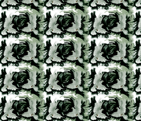 pax-peace-half-tq fabric by wren_leyland on Spoonflower - custom fabric