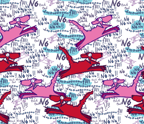 Bad Bad Dogs fabric by joybucket on Spoonflower - custom fabric