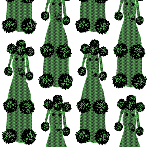 crocheted poodles fabric by heidikenney on Spoonflower - custom fabric