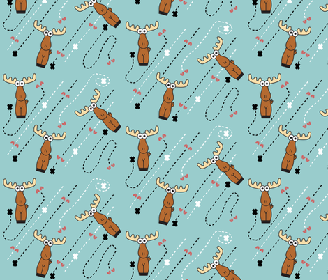 Moose Tracks fabric by kel_marie_n on Spoonflower - custom fabric