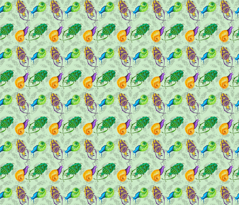 Beetles and Snails fabric by effiedee on Spoonflower - custom fabric