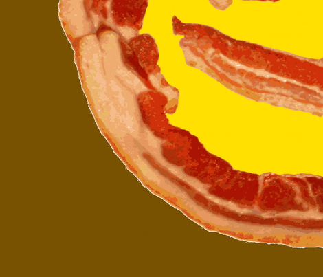 bacon smiley fabric by paragonstudios on Spoonflower - custom fabric