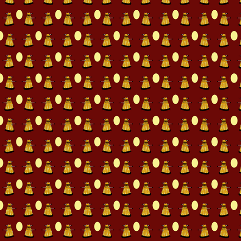 Eggs-Terminate Red fabric by thetatterpunk on Spoonflower - custom fabric