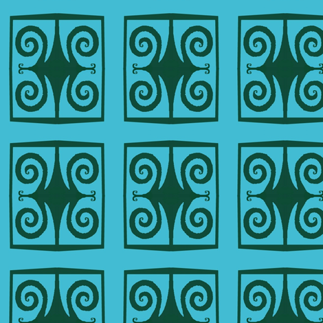 Wrought Iron Squares fabric by boris_thumbkin on Spoonflower - custom fabric