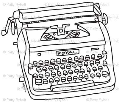 Royal Typewriter (black & white)