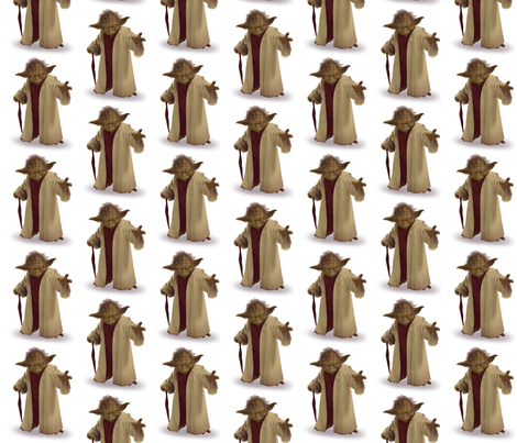 Yoda-Color edit fabric by reganraff on Spoonflower - custom fabric