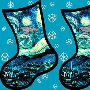 Christmas Stocking DIY Project - Starry Night Space Ship