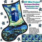 Doctor Who Inspired Christmas Stocking DIY Project - Starry Night TARDIS