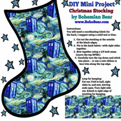 Christmas Stocking DIY Project - Starry Night TARDIS