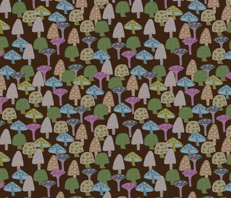toxic mushrooms fabric by kociara on Spoonflower - custom fabric
