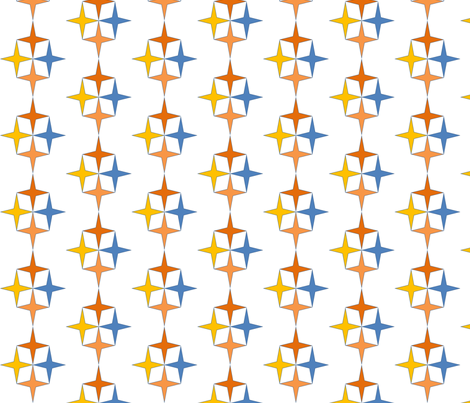Star_repeat fabric by reganraff on Spoonflower - custom fabric