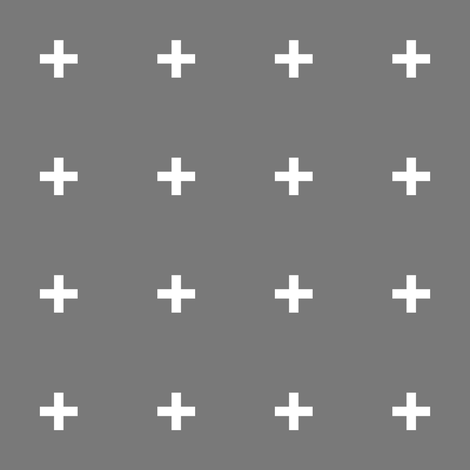 Heather Grey Cross // Plus fabric by pencilmein on Spoonflower - custom fabric
