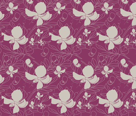 Broadbean Berry fabric by leeandallandesign on Spoonflower - custom fabric