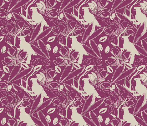 Cockatoo Berry fabric by leeandallandesign on Spoonflower - custom fabric