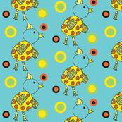 blue chicky dots
