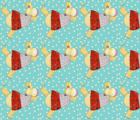 hippo_2 fabric by birdybouy on Spoonflower - custom fabric