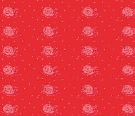 WARM SNAIL fabric by gurumania on Spoonflower - custom fabric