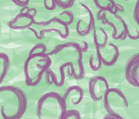 Mint Dogs fabric by kkennedy on Spoonflower - custom fabric