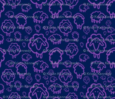 Sheep- purple
