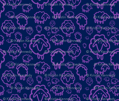 Sheep- purple