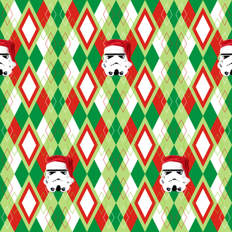 Argyle Christmas Stormtrooper fabric by smuk on Spoonflower - custom fabric
