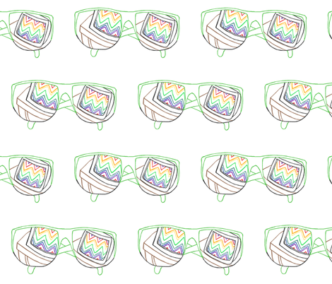80's Sunglasses Embroidery Pattern fabric by pond_ripple on Spoonflower - custom fabric
