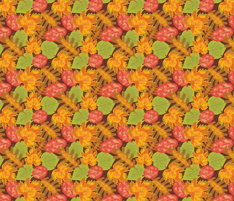 Falling Leaves fabric by jjtrends on Spoonflower - custom fabric