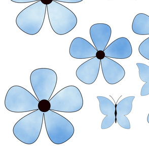 sky_cloud_flower_butterflies