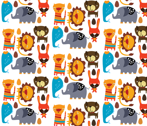 Animal Decals fabric by suryasajnani on Spoonflower - custom fabric