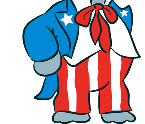 GOP Elephant  fabric by scifiwritir on Spoonflower - custom fabric