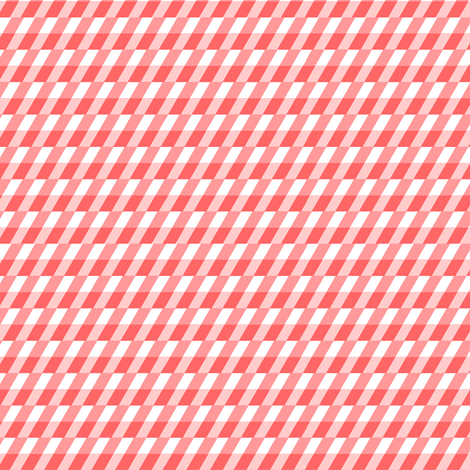 Barber's pole stripe in coral fabric by little_fish on Spoonflower - custom fabric