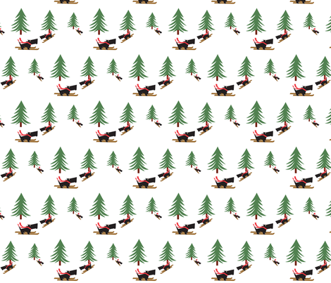 Skiing_Scotties Gift Wrap fabric by kiki_ on Spoonflower - custom fabric
