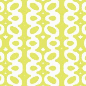 Egg Drop Stripe (white & key lime)
