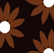 Autumn Leaves - Flower Chocolate Brown