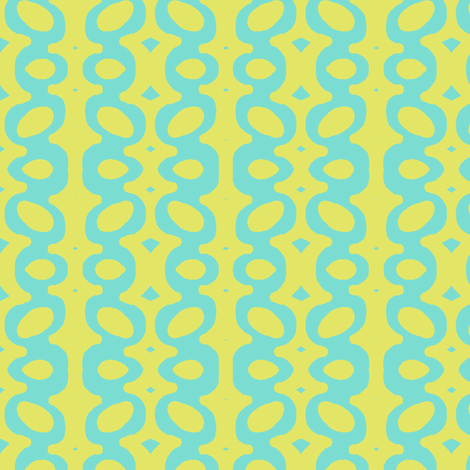Egg Drop Stripe (tropical sea & key lime) fabric by pattyryboltdesigns on Spoonflower - custom fabric