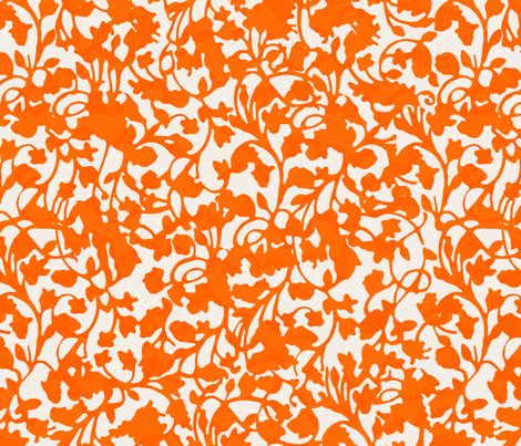 Earth_Tangerine fabric by garimadhawan on Spoonflower - custom fabric