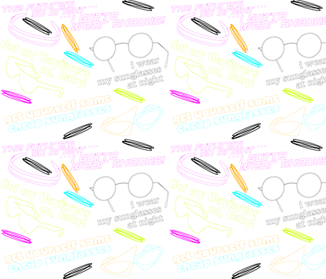 80s Sunglasses Songs fabric by gg33 on Spoonflower - custom fabric