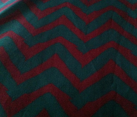 Burgundy and Teal Chevron