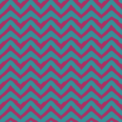 Burgundy and Teal Chevron fabric by bohobear on Spoonflower - custom fabric