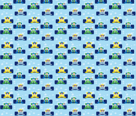 Race Cars fabric by verycherry on Spoonflower - custom fabric