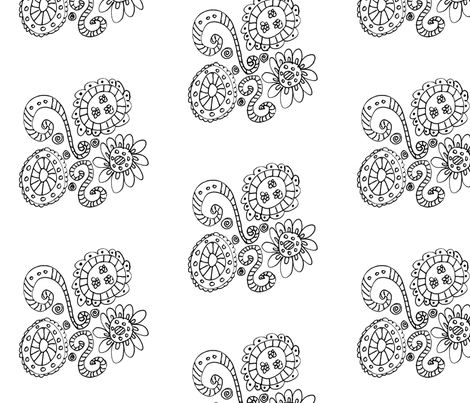 Swirls of Flowers fabric by captiveinflorida on Spoonflower - custom fabric