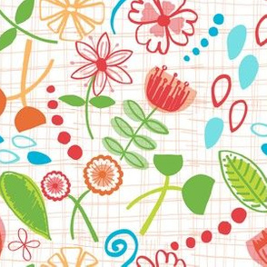 Hand-Drawn Floral Wallpaper