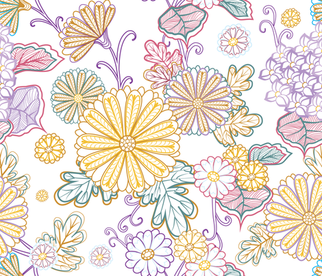 Flowers 4 fabric by milenagaytandzhieva on Spoonflower - custom fabric