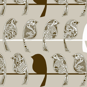 Henna Birds - Tan