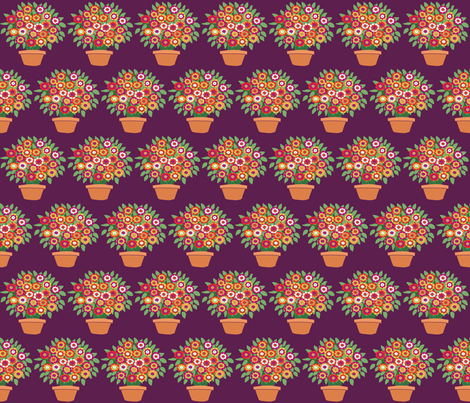 small plum flowerpot fabric by lfntextiles on Spoonflower - custom fabric