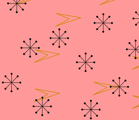 Atomic Arrows and Starbursts fabric by cherie on Spoonflower - custom fabric