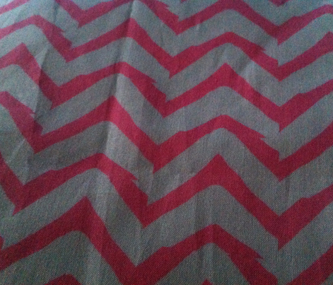 Burgundy Pink and Grey Jagged Chevron