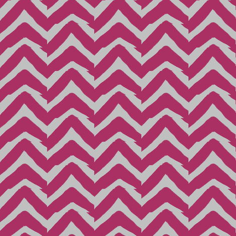 Burgundy Pink and Grey Jagged Chevron fabric by bohobear on Spoonflower - custom fabric