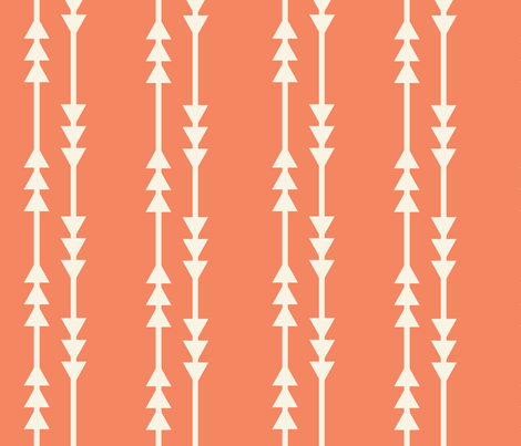 Arrows in Coral fabric by shastafeltman on Spoonflower - custom fabric