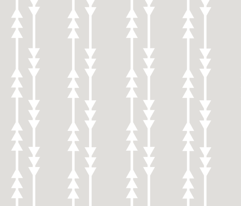 Gray Arrows fabric by shastafeltman on Spoonflower - custom fabric